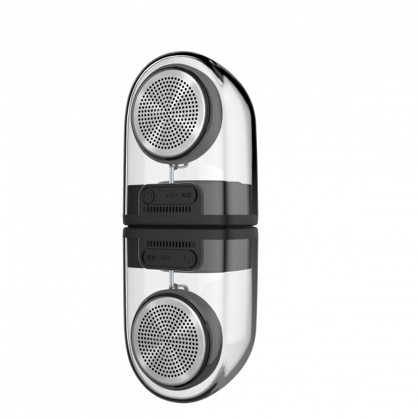 Crystal series TWS speaker with silicon case(2pcs)