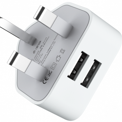 Smart Series 2.4A  UK Charger (UK, 5V 2.4A,2USB)