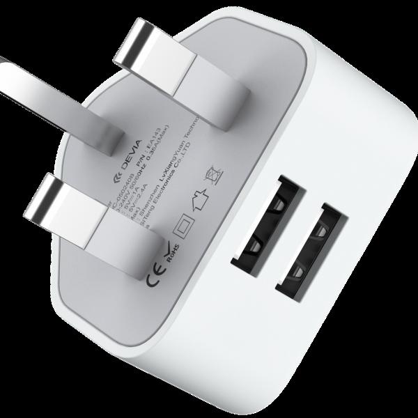Smart Series 2.4A UK Charger (UK, 5V 2.4A,2USB)