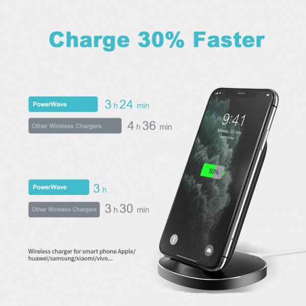 Devia Qi mobile holder fast Automatic wireless charging wireless cell phones charger stand