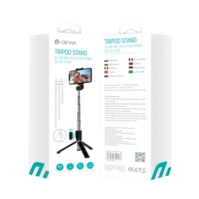 "Tripod Live streaming stand with LED ring light (12″"" 1.7m)"""