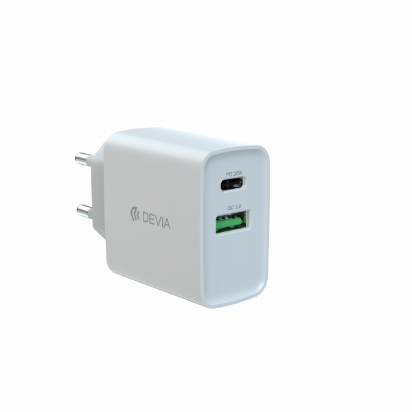 Smart series PD+QC quick charger(EU,20W)
