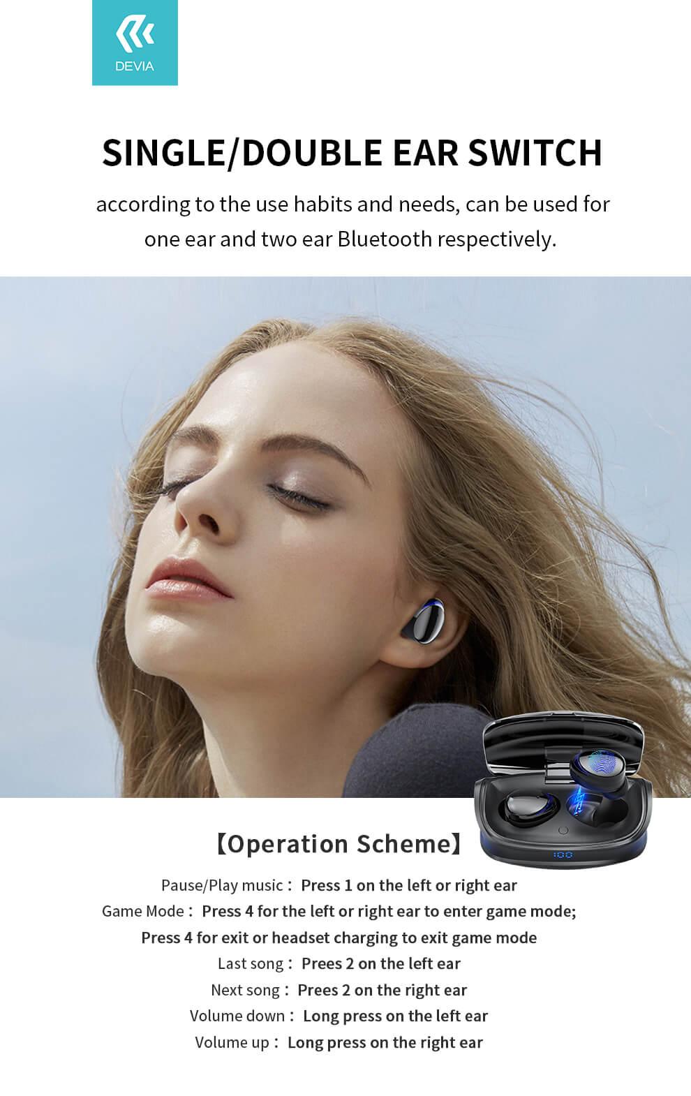 game wireless earphone information